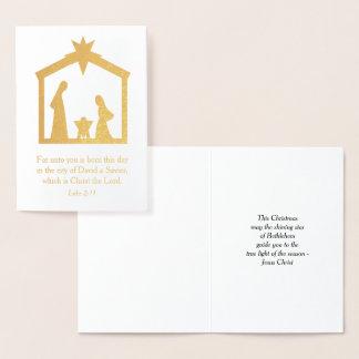 WeihnachtsNativity christlicher religiöser Jesus Folienkarte