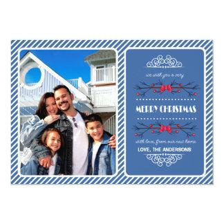 Weihnachtsneue Adresse/bewegliche Mitteilungen 12,7 X 17,8 Cm Einladungskarte