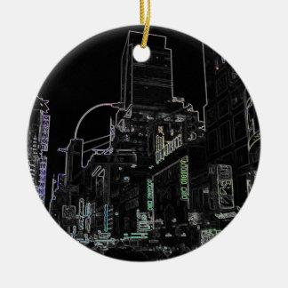 Weihnachtsnew- york cityTimes Square-Lichter Keramik Ornament