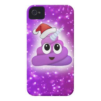 Weihnachtsniedlicher Unicorn kacken Emoji Glühen iPhone 4 Hüllen
