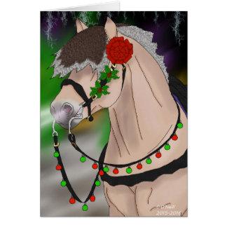 Weihnachtsnorwegisches Fjord-Pferd Karte