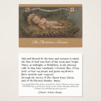 Weihnachtsnovena-Gebets-heilige Karte