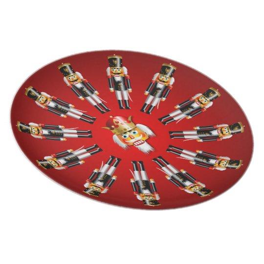 Weihnachtsnussknacker-Armee Melaminteller