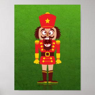 Weihnachtsnussknacker bricht seine Zähne und geht Poster