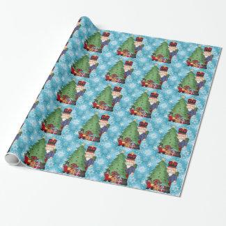 Weihnachtsnussknacker-Feiertags-Packpapier Geschenkpapier
