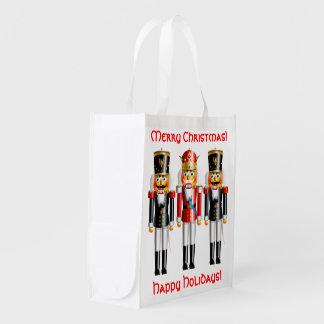 Weihnachtsnussknacker-Soldat-Schutz Wiederverwendbare Einkaufstasche
