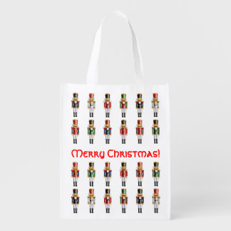 Weihnachtsnussknacker-Spielzeug-Soldat-Armee Wiederverwendbare Einkaufstasche