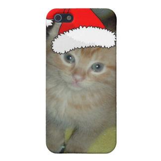 Weihnachtsorange Tabby-Miezekatze-Katze Etui Fürs iPhone 5