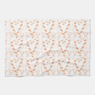 Weihnachtsorange Zuckerstange-Geschirrtücher Handtuch
