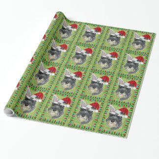 WeihnachtsPackpapier -- Schnauzer Geschenkpapier
