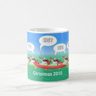 Weihnachtspaddel Kaffeetasse
