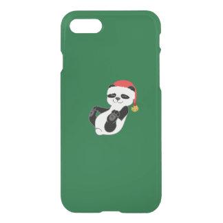 Weihnachtspanda-Bär mit Weihnachtsmannmütze u. iPhone 8/7 Hülle