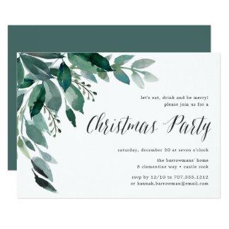 WeihnachtsParty Einladung des Winter-Überfluss-|