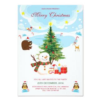 WeihnachtsParty Einladungs-Flyer Karte