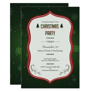 WeihnachtsParty Einladungs-Karte Karte
