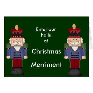 WeihnachtsParty Einladungs-Karten Mitteilungskarte