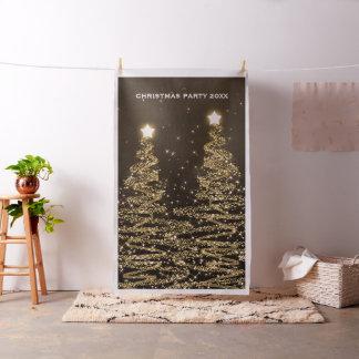 WeihnachtsParty-Foto-Stand-Hintergrund-Baum-Gold Stoff