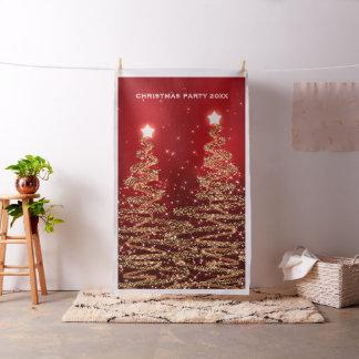 WeihnachtsParty-Foto-Stand-Hintergrund-Bäume rot Stoff