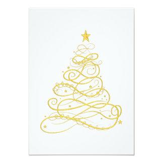 WeihnachtsParty - goldener mit Filigran Karte