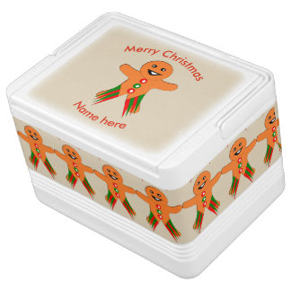 WeihnachtsParty-Lebkuchen-Mann kann cooler Kühlbox