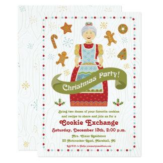 WeihnachtsParty-Plätzchen-Austausch-Einladung Karte