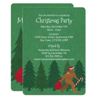 WeihnachtsParty Squatchy Spaß-Kinder Sankt Squatch 12,7 X 17,8 Cm Einladungskarte