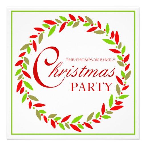 WeihnachtsPartywreath-Einladung