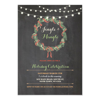 WeihnachtsPartywreath-fröhliche Klingel vermischen Karte