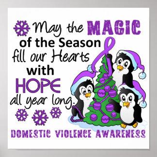 Weihnachtspenguins-inländische Gewalt Plakatdrucke