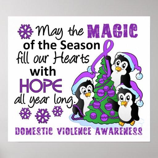 Weihnachtspenguins-inländische Gewalt Posterdrucke