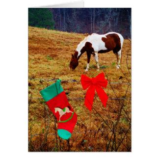 Weihnachtspferd Karte