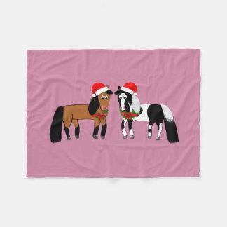 Weihnachtspferdedecke Fleecedecke