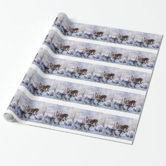 Weihnachtspferdegeschenk-Verpackungs-Papier Geschenkpapier