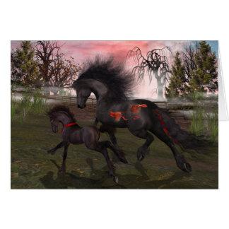 Weihnachtspferdegruß-Karte, Umschläge Karte