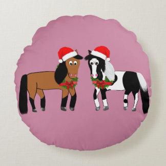 Weihnachtspferdekissen Rundes Kissen