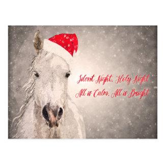 Weihnachtspferdepostkarten-Feiertags-Grüße Postkarte