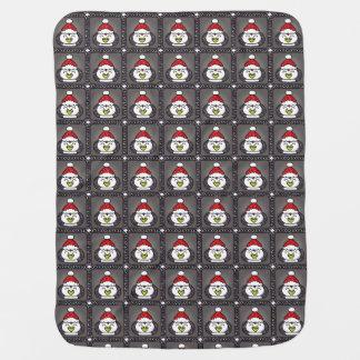 WeihnachtsPinguin-Baby-Decke Puckdecke