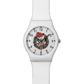 WeihnachtsPinguin-Feiertags-Kranz Armbanduhr