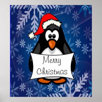 WeihnachtsPinguin Poster