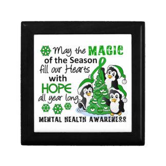 WeihnachtsPinguin-psychische Gesundheiten Modeschmuckschachtel