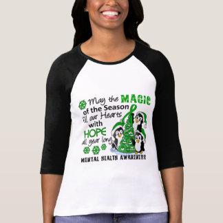 WeihnachtsPinguin-psychische Gesundheiten T-shirt
