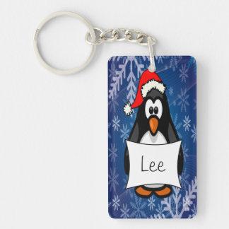 WeihnachtsPinguin Schlüsselanhänger