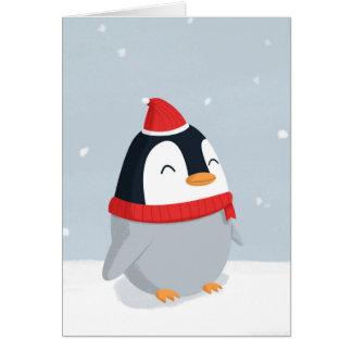 WeihnachtsPinguin-Weihnachtskarte Karte