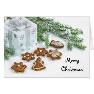Weihnachtsplätzchen-Gruß-Karte Grußkarte