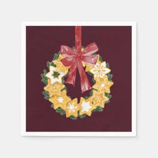 Weihnachtsplätzchen-Kranz mit Papierserviette