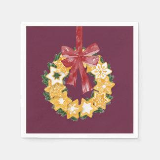 Weihnachtsplätzchen-Kranz mit tiefem Serviette