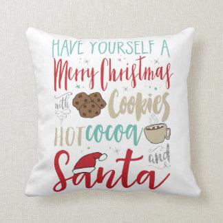 Weihnachtsplätzchen-Sankt-Kissen Kissen
