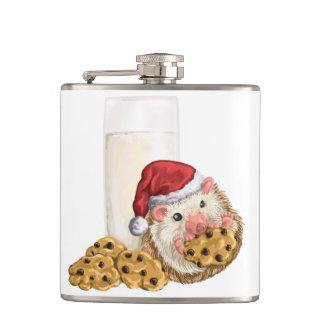 Weihnachtsplätzchen-Schwein Flachmann