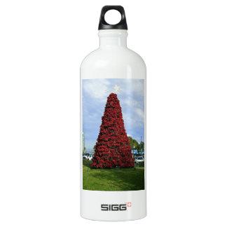 Weihnachtspoinsettia-Baum in San Diego Wasserflasche