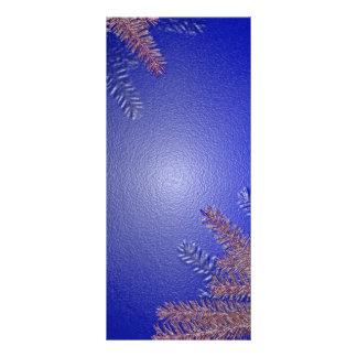 Weihnachtspoinsettia-Blau Bedruckte Werbekarten